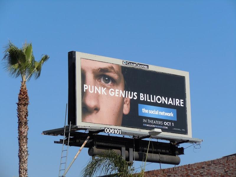 Genius Social Network movie billboard