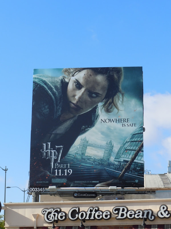 Hermione Harry Potter 7 movie billboard