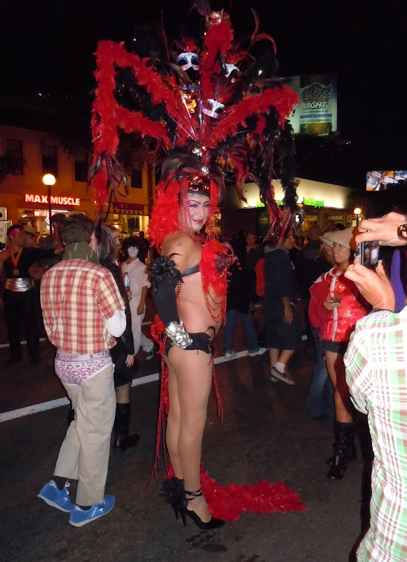 West Hollywood Halloween Carnaval showgirl