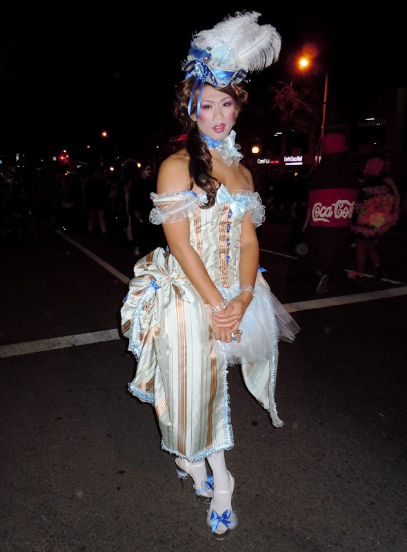 Courtesan costume West Hollywood Halloween Carnaval 2010