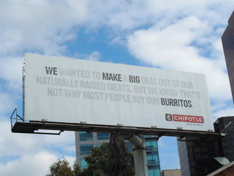 Chipotle Big Burritos billboard