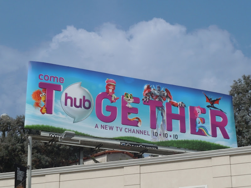 Hub Come Together TV channel billboard