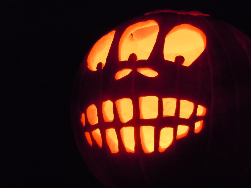 Halloween carved pumpkin Jack O' Lantern