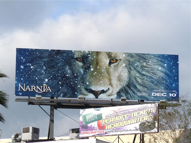 Narnia Voyage of the Dawn Treader billboard