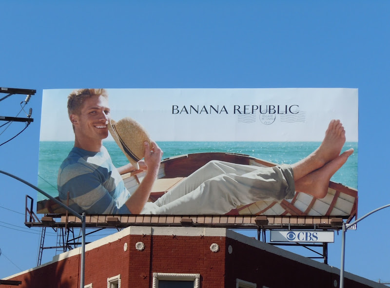 Banana Republic boat model billboard
