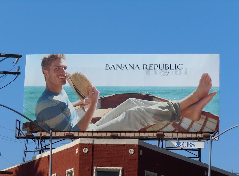 Banana Republic boat model billboard