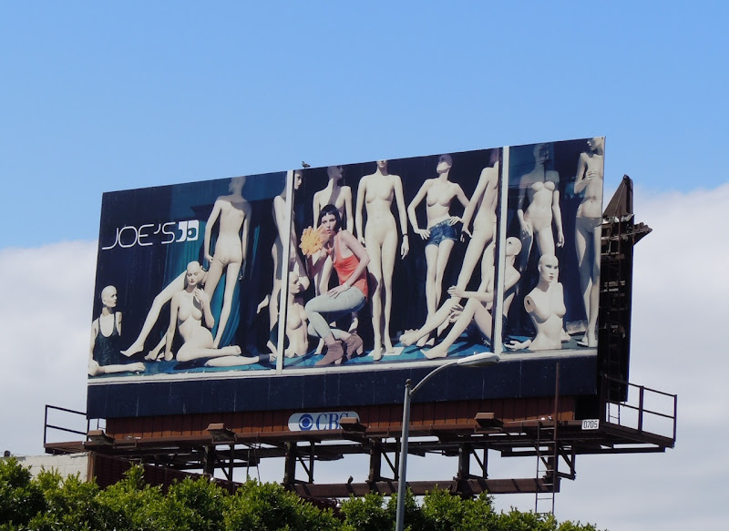 Joe's Jeans mannequin fashion billboard