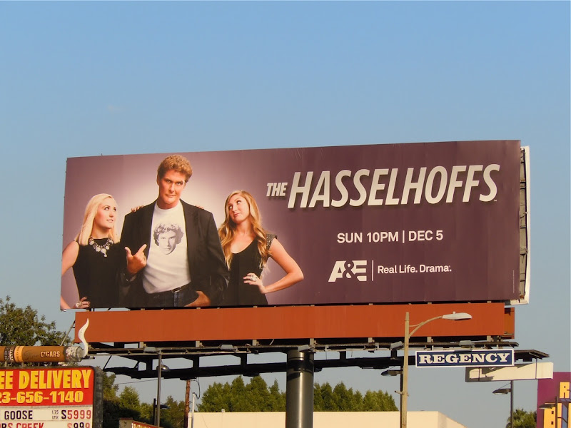 The Hasselhoffs TV billboard