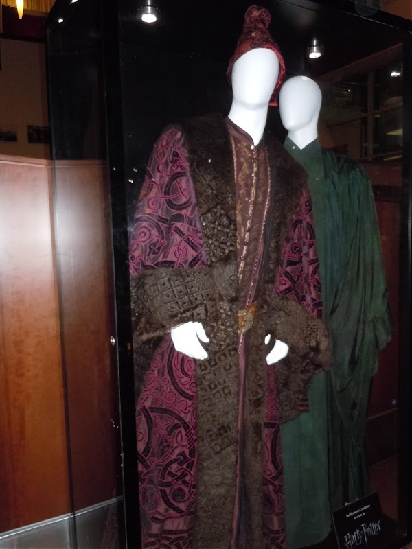 Harry Potter movie costumes Dumbledore and Voldemort