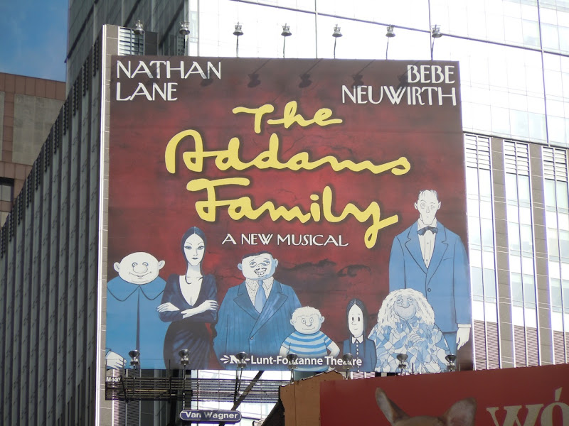 Addams Family Musical billboard