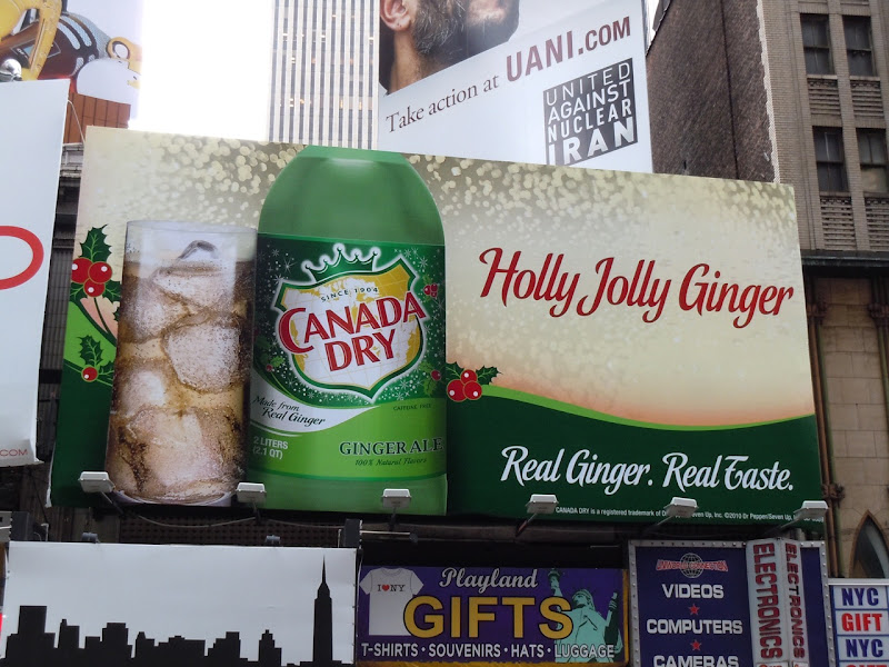 Canada Dry Ginger Ale billboard