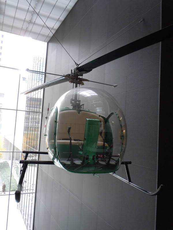Green helicopter MoMA NYC