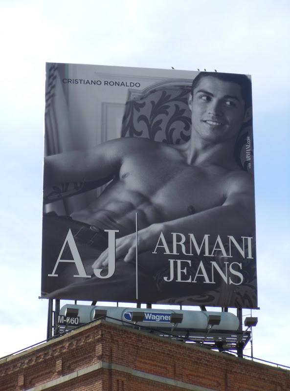 Cristiano Ronaldo Armani Jeans Abs billboard