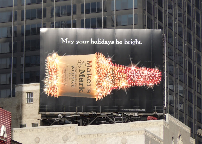 Sparkling Maker's Mark billboard NYC