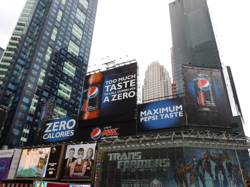 Pepsi Max zero calories billboards