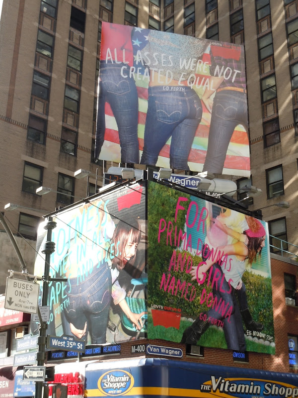 Levi's Curve ID jeans billboards NYC
