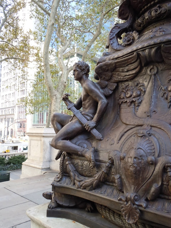 New York Public Library angel sculpture