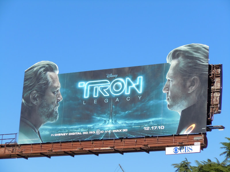 Jeff Bridges Tron Legacy billboard