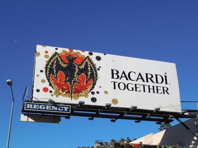Bacardi bat logo billboard