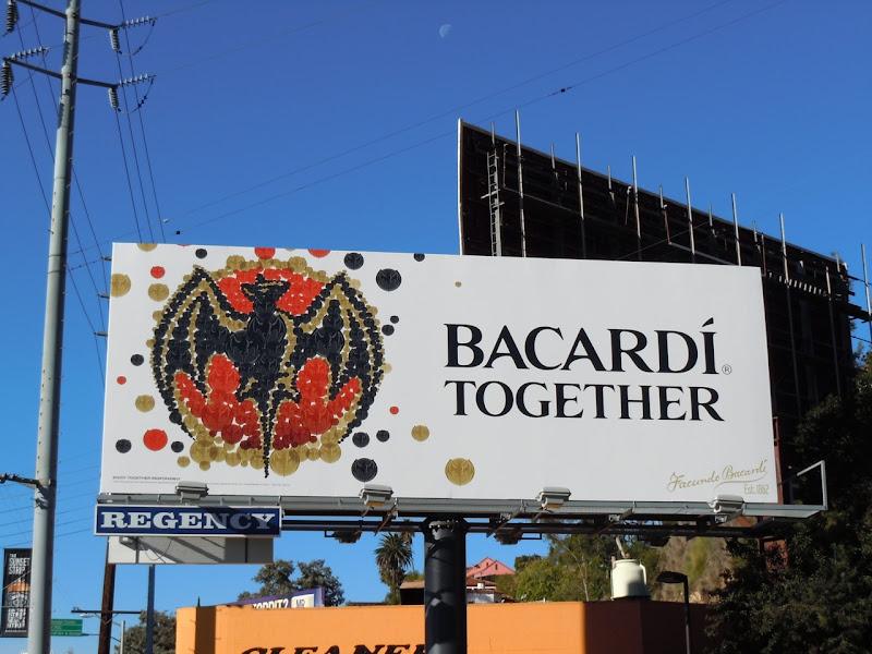 Bacardi Together billboard
