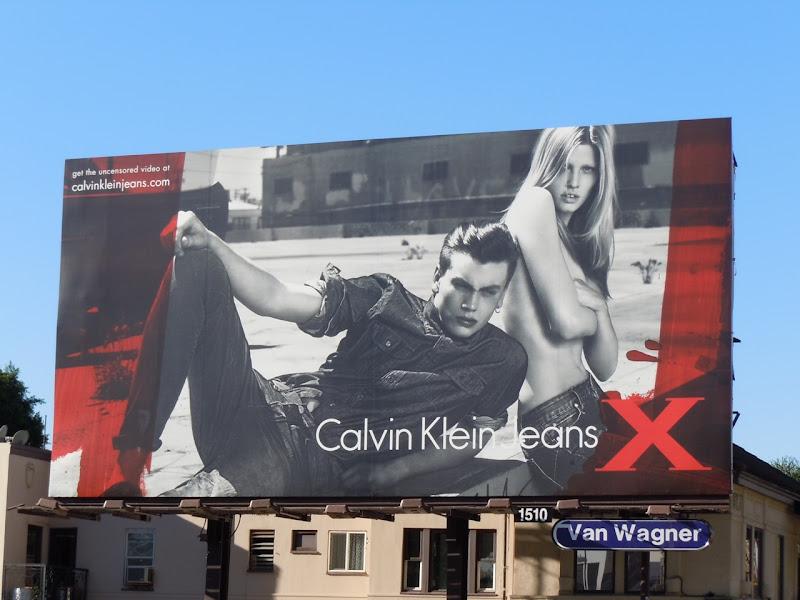 Calvin Klein X models billboard