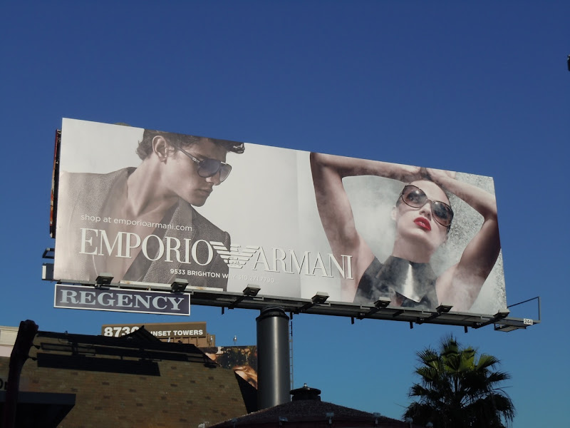 Emporio Armani sunglasses winter 2010 billboard