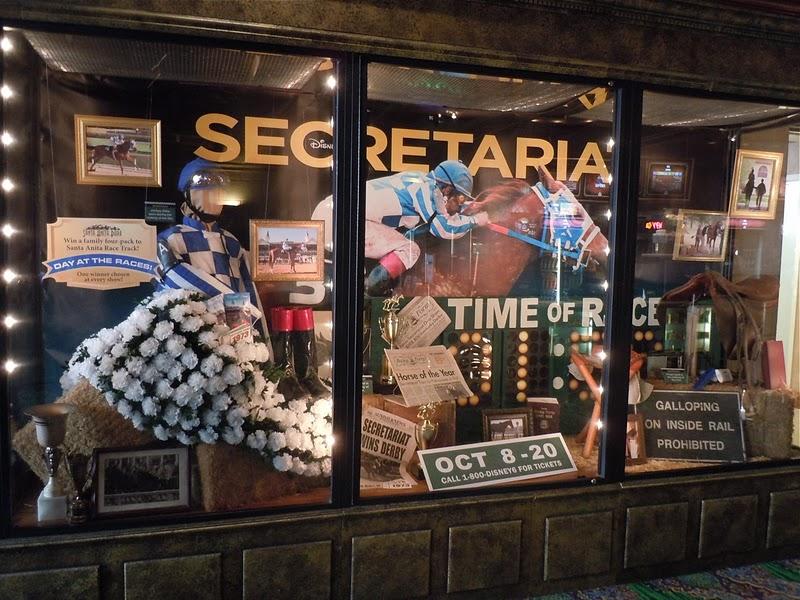 Secretariat movie costume and prop display