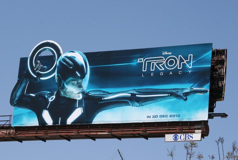Tron Legacy Identity Disc billboard