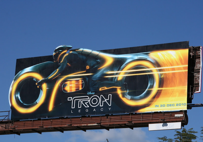 Tron Legacy Lightcycle film billboard