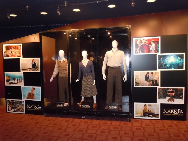 Narnia Dawn Treader film costume exhibit