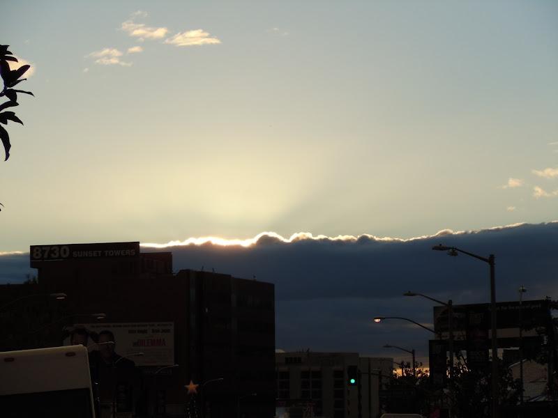Sunny clouds after storm LA