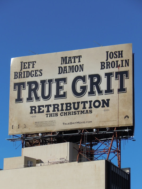 True Grit movie billboard