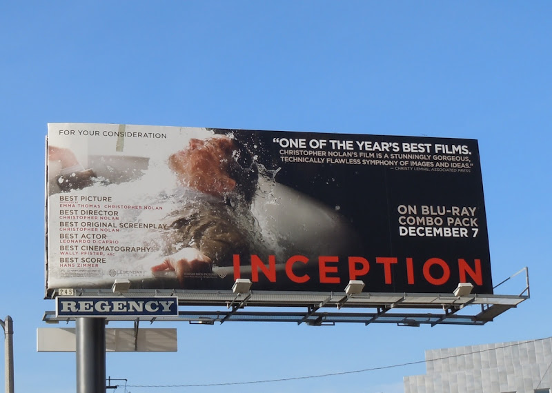 Inception bath tub film billboard