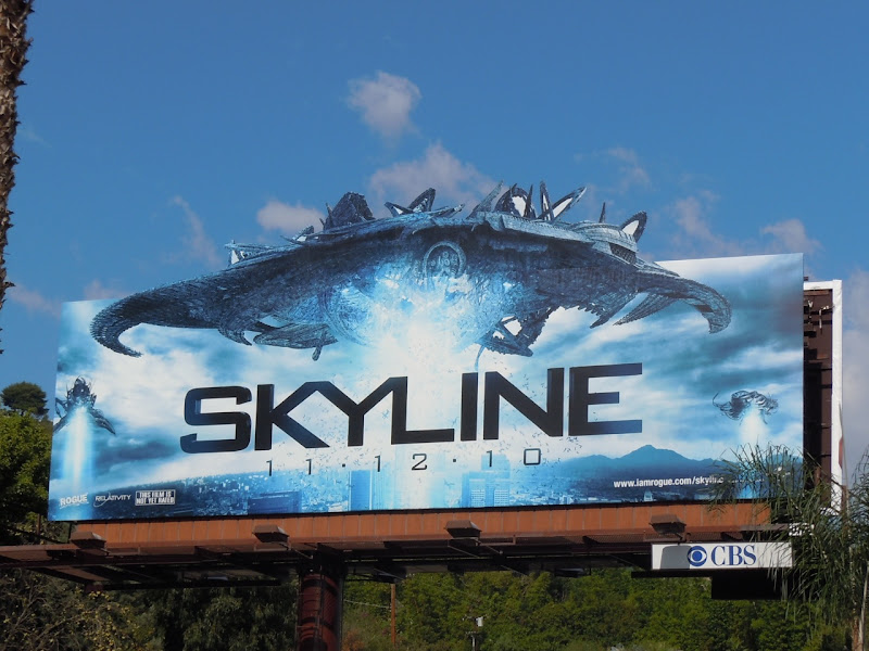Skyline spaceship billboard