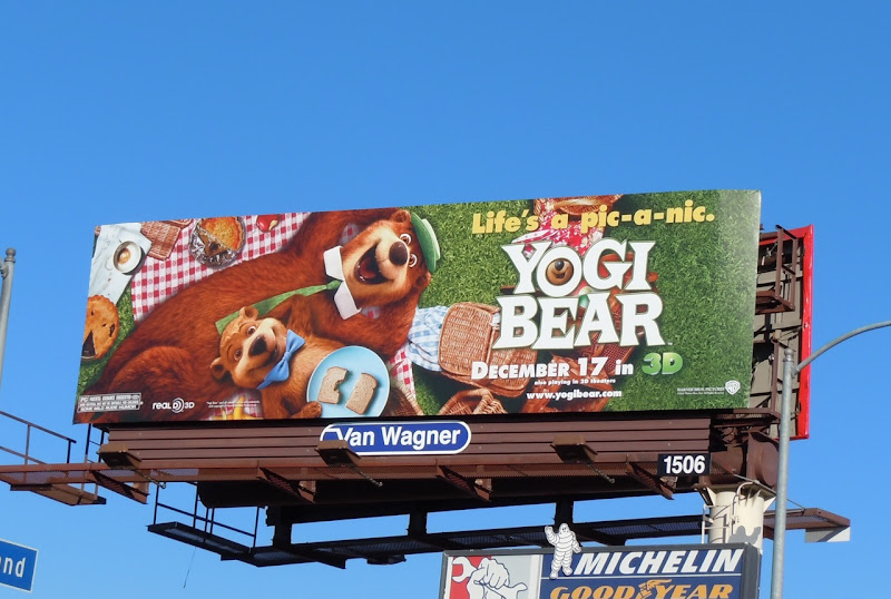 Yogi Bear picnic billboard