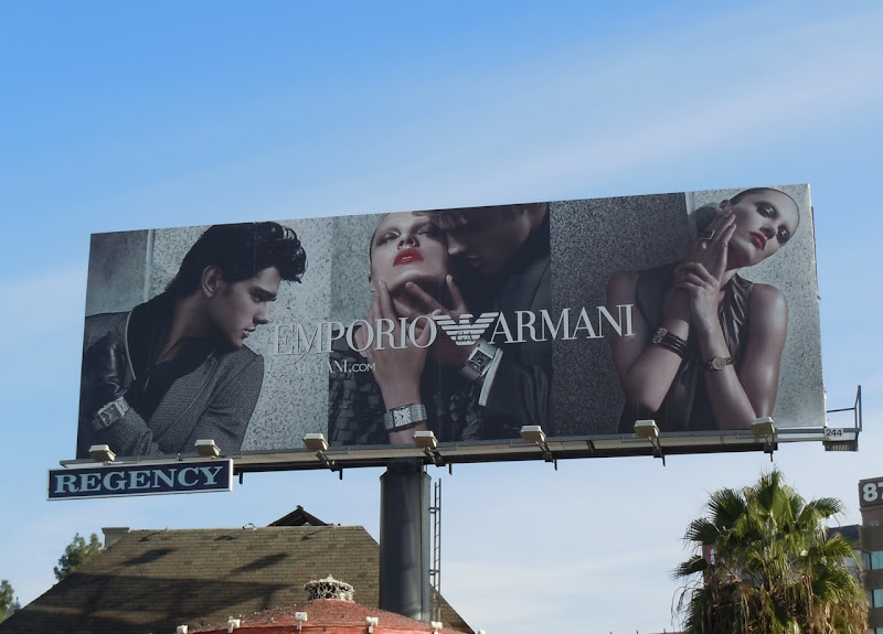 Emporio Armani winter 2010 billboard
