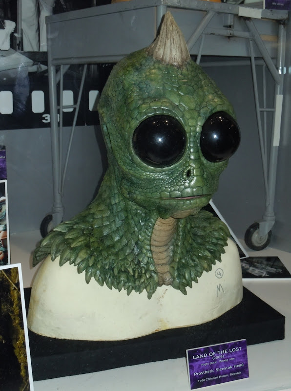 Prosthetic Sleestak head Land of the Lost