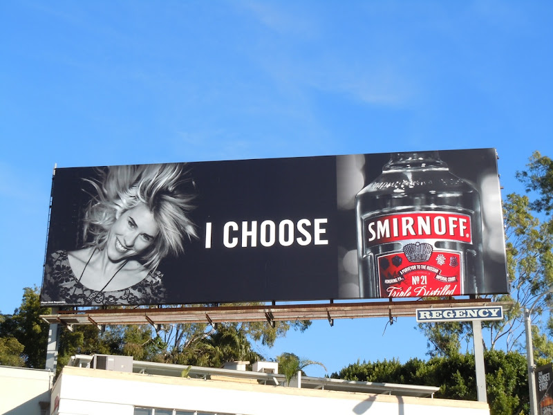 I choose Smirnoff Vodka billboard