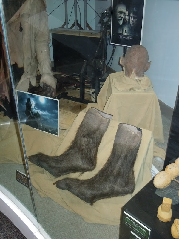 The Wolfman prosthetic feet and cowl