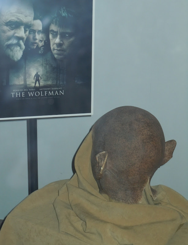 The Wolfman prosthetic make-up cowl