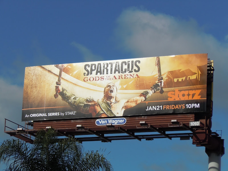 Spartacus Gods of the Arena billboard