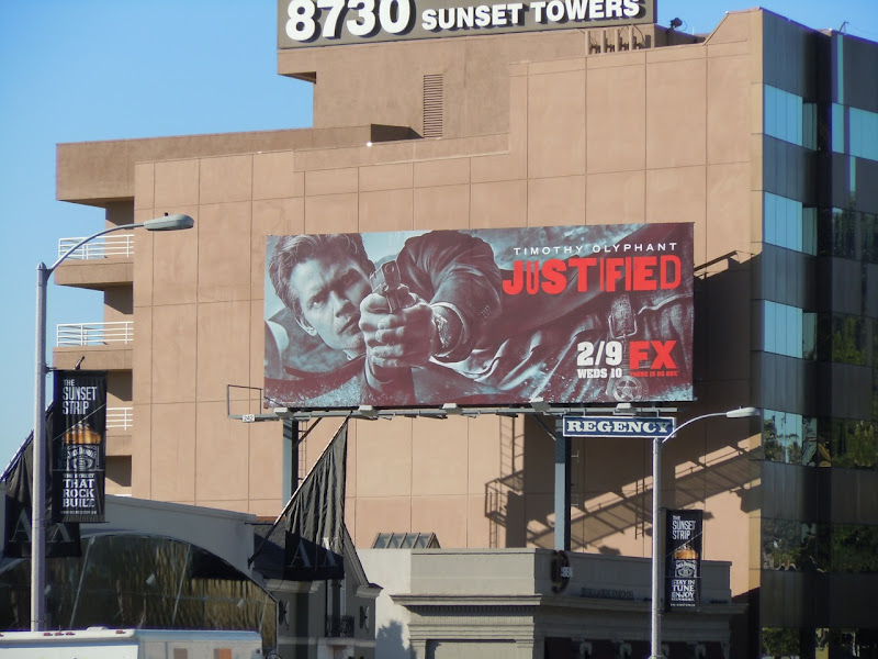 Timothy Olyphant Justified season 2 billboard