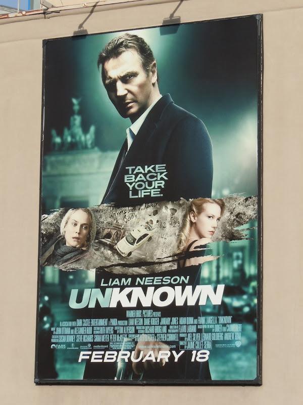 Liam Neeson Unknown movie billboard