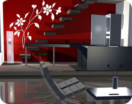 Vinilos decorativos florales vinilos decorativos mexico for Vinilos para paredes exteriores
