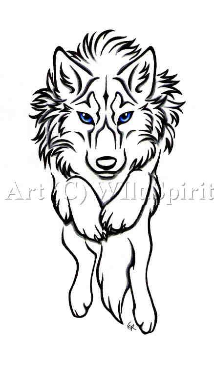 wolf tattoos. Tribal Wolf Tattoo Designs.