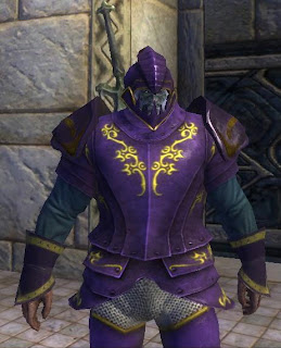 Defiant Warrior with purple and yellow dye