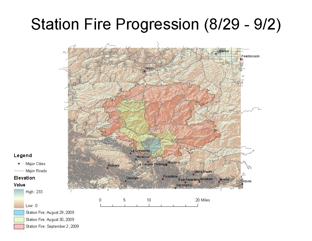 lab 7 mapping the station fire in arcgis
