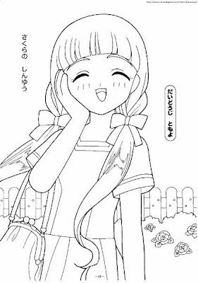 anime world Dibujos para Colorear Anime