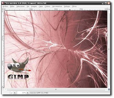 Efecto Fractal, Wallpapres con el GIMP Flama+Final+Tutorial