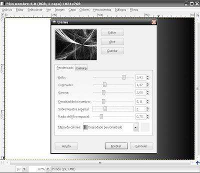 Efecto Fractal, Wallpapres con el GIMP Flama8